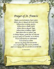 Prayer of St. Francis on Scroll Art