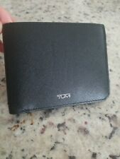 NWT Tumi Mason SLG Global Wallet w Coin Pocket in Black Coated Canvas MSRP $225