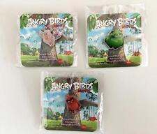 ANGRY BIRDS (2016) - Original Promo Movie Pins Set of 3 AMC - Brand New Sealed
