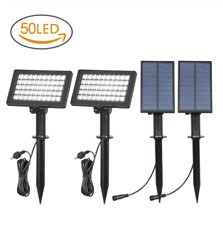2PACK 50LED Adjustable Solar Power Spotlights Separate Panel Outdoor Garden Lamp