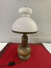 Tischlampe Nachtischlampe HOLZ Tischleuchte Design Leselampe Landhaus Italy Teak