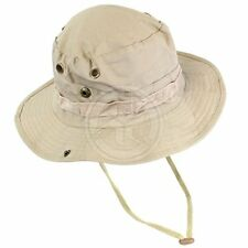 VooDoo Tactical Khaki Rip-Stop Cotton Boonie Hat with Metal Screen Vents - 7.25