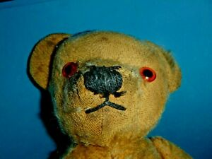 VINTAGE ? 1950'S / 50'S STRAW FILLED BALD BEAR, FULLY JOINTED, UNKNOWN MAKER 15'