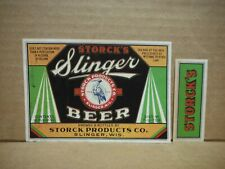 Slinger'S Irtp 4% 12 Oz. Beer Label-Storck Products Co.,Slinger,Wisconsin
