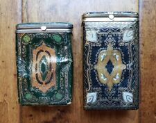 New listing Lot of 2 Vintage Cigarrette Case Holder Made in Italy Tobacciana Brevettata