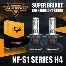 AUXBEAM H4 9003 HB2 LED Headlight Bulbs 6500K 8000LM Fanless High Low Dual Beam