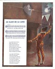 """CHROMO GF CHANSON SING """" AU CLAIR DE LA LUNE  """""""