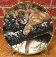 Collector Plate by Lenox - Cat Nap - Guy Coheleach Royal Cats Collection