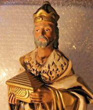 """Vintage Large Nativity 13"""" Wiseman Figure Japan Paper Mache' Composition"""