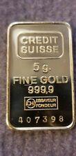 5 Gram Gold Credit Suisse Fine 999.9 Bar Mirror Finish