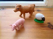 - Animali da Fattoria Britains mucca e pecore & Schleich maiale animali da fattoria Bundle