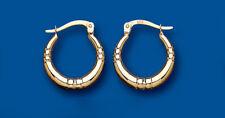 Hoop Earrings Gold Creole Yellow gold Hoops 15mm hallmarked