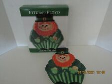 """Fitz And Floyd Leprechaun Canapé Plate - 8"""" x 6.5"""" - New in Original Box"""