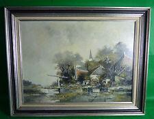 """Ölgemälde """""""" R.Verheijen Holland  """" holländische  Landschaft"""