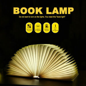 LED Reading Book Night Light Rechargeable Foldable Table Lamp USB Desk Booklight