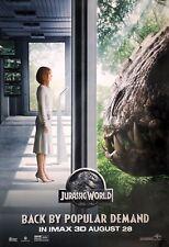 JURASSIC WORLD 2015 Original IMAX DS 4x6' US Bus Shelter Poster Chris Pratt