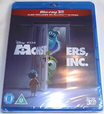 MONSTERS, INC. Brand New 3D (and 2D) BLU-RAY 2001 Movie Region-Free Pixar Import