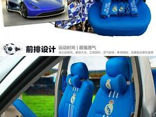 New REAL MADRID Car Seat Covers Accessories Set 18PCS Blue