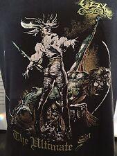 Rare VTG 80's Ozzy Osbourne  Sin Tour Shirt Sz M/L Metallica Rock SOD Metal Dio