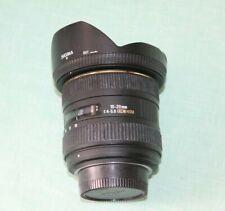 Sigma 10-20mm 1:4-5.6 HSM Auto Focus Zoom Lens for Nikon