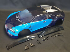 "RC CAR KAROSSERIE 1:10 ""SUPER CAR 1000"" IN BLAU 190MM BREIT # JLR19"