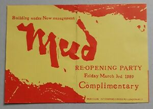THE MUD CLUB AT THE ASTORIA 1989 RAVE FLYER