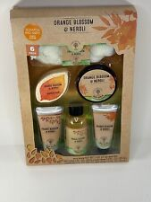 The Orange Tree Orange Blossom & Neroli Bath Gift Set 6 Pc Amazing Gift Set Body