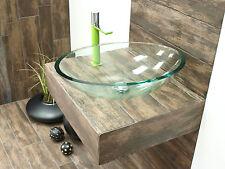 Ovale Waschtische aus Glas für das Badezimmer