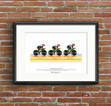 Team GB Women's Cycling Pursuit Team, London 2012 Olympics ART POSTER A3 size