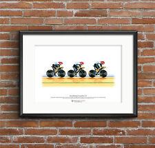 Equipo de GB Para Mujer Ciclismo Pursuit Team, Londres 2012 Olimpiadas Arte Cartel Tamaño A3
