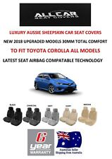 Sheepskin Car Seat Covers to fit a Toyota Corolla models , Airbag Safe, 30mm TC