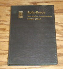 Original 1969 Rolls Royce Silver Shadow Long Wheelbase Formal Sedan Handbook 69