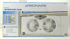 Bionaire Remote Control Dual Window Fan With Programmable Thermostat Bwf0190-Wcu