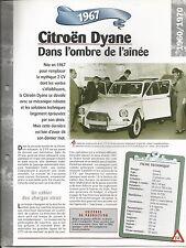 FICHE DESCRIPTIVE - TECHNIQUE - LA CITROEN DYANE DE 1967
