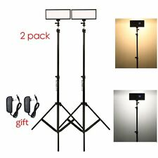 Viltrox 2x Viltrox Bi-Color Dimmable LED Light + 2 x Light Stand +2x AC Adapter