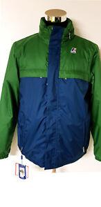 Man Jacket K.Way - Art. K005ENO914 Blue Colour - Green - Discount - 50%