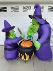 Halloween AIRBLOWN DOUBLE WITCH BREWING CAULDRON 6Ft Inflatable Yard Prop Décor