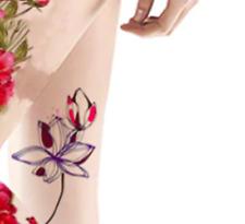 Full Flower Lotus Temporary Tattoo Stickers Longlasting Fake Tattoo Waterproof