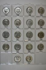 1965-66-67  Kennedy Half Dollars ( 18 Coins ) All Coins From Mints Sets. Silver