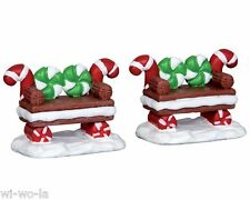 Lemax 44812, Peppermint Cookie Bench, Set/2, Sugar`n Spice NEW Collection!