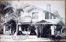 1920s Postcard: 'Adams Tourist Home - Haines City, Florida FL'