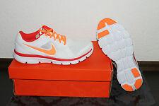Nike Flex funcionamiento de las mujeres correr Botín blanco naranja Tamaño 38 5