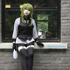 Vocaloid GUMI Style Cosplay Poker Face Gumi Green Cosplay Wig+ Free Wig Cap