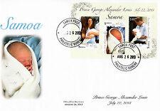 Samoa 2013 FDC Royal Baby 3v Sheet Cover Birth Prince George William Kate
