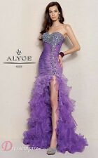 BNWT ALYCE PROM EVENING GOWN DRESS 6037 SIZE 04 IN VIOLET *RETAIL $518*