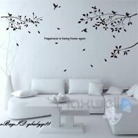 Large Bird Tree Branch Vinyl Wall Decals Home Art Stickers Kids Nursery Decor