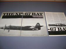 """Vintage... XP-67 """"Bat""""... Cockpit/Fotos/Geschichte... (#800)"""