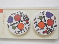 Frank Lloyd Wright COONLEY PLAYHOUSE Set of Two Absorbent Coasters Cars