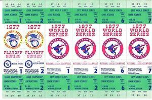 1977 Baltimore Orioles World Series Phantom Full Ticket Block of (6) NRMT