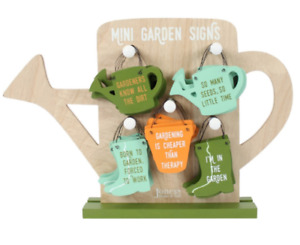 small wooden gardening plant theme hanging signs plaque
